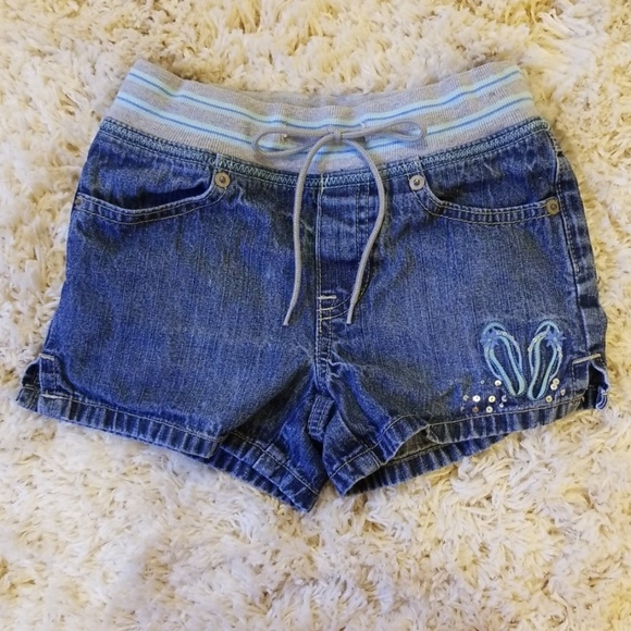 NWT JUSTICE Girls 12 Sequin Destructed Short Shorts
